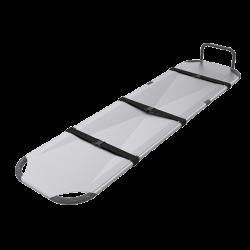 Civière standard amovible avec barrière de pieds, interchangeable avec civière bariatrique